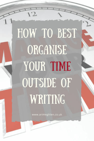 TitleImage: how best to organise your time outside of writing. Image: Clock image with Manage Your Time written across the face