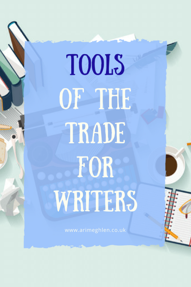 Title Image: Tools of the trade for writers. Writers Toolkit