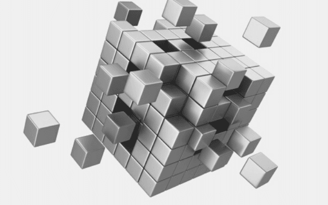Featured Images - Vector image of a 3-D cube made up of other cubes, several not in place. Image from DepositPhoto
