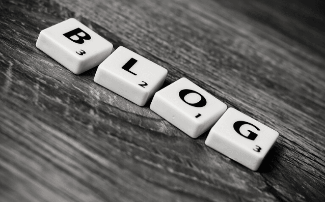 Featured Images - Blog. Scrabble tiles spelling the word Blog