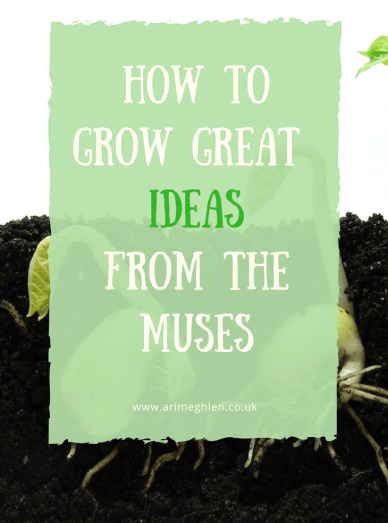 Banner how to grow great ideas from the muses, images of seeds growing