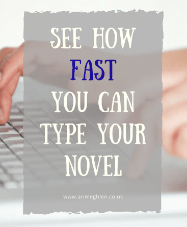 Banner see how fast you can type your novel
