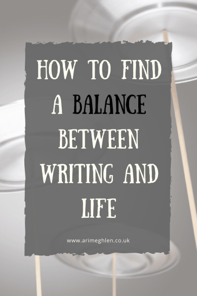Title image: how to find a balance between writing and life.  Image: plates spinning