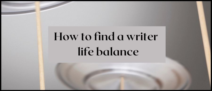 How to find a writer life balance. Image of plates spinning