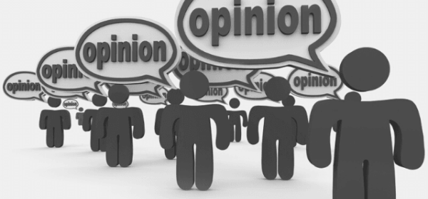 "Featured Images - Critics - Vector image of people all with speechbubbles stating ""opinion"". Image from DepositPhotos.com"