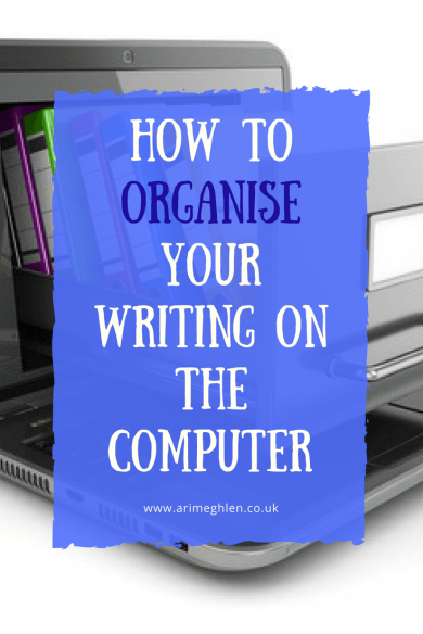banner how to organise your writing on the computer