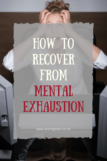 banner how to recover from mental exhaustion