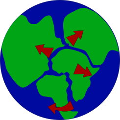 The concept of Pangea. Image from Pixabay