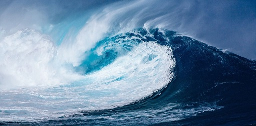 Ocean wave, sea water, image from Pixabay