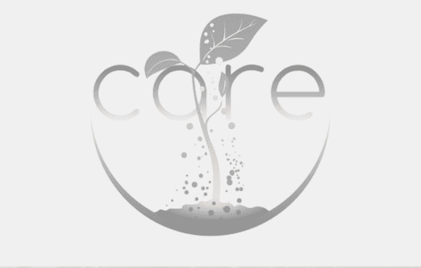 Featured Image - Care for your writer. Graphic of the word care with a plant growing