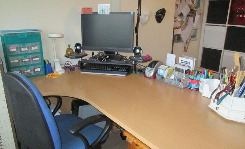 Image: Ari Meghlen's writing desk