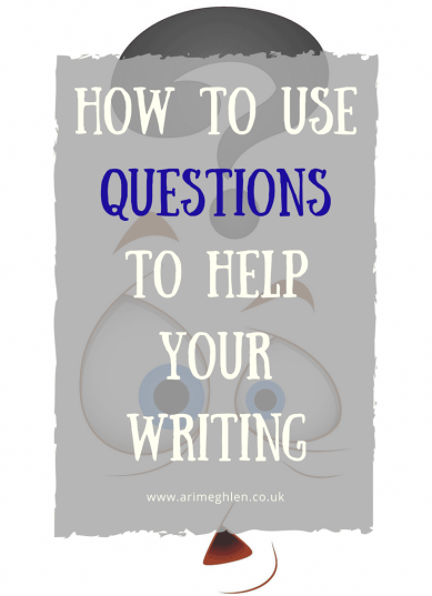 Title Image: How to use questions to help your writing. Image confused face with a question mark