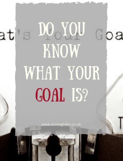 """Title Time: Do you know what your goal is? Image of typewriter with """"What's your goal?"""" typed"""