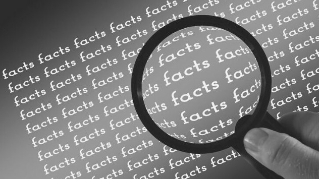 Featured Images - Magnifying glass over a sheet with the words facts written over. Image from Pixabay