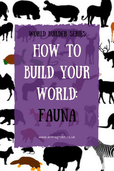 Banner how to build your world: fauna. silhouettes of animals