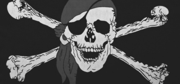 Featured Image-Alpha Readers. By Dread Pirate. Image of skull and crossbones, skull wearing a bandana and eyepatch.