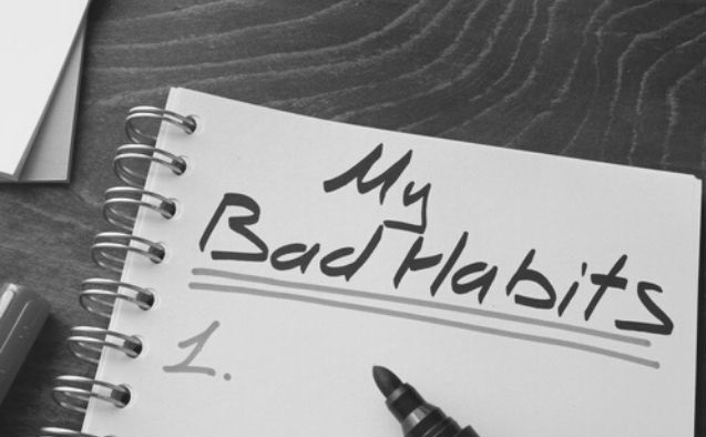 "Featured Images - Ring pad with the words ""My Bad Habits"" written in marker"