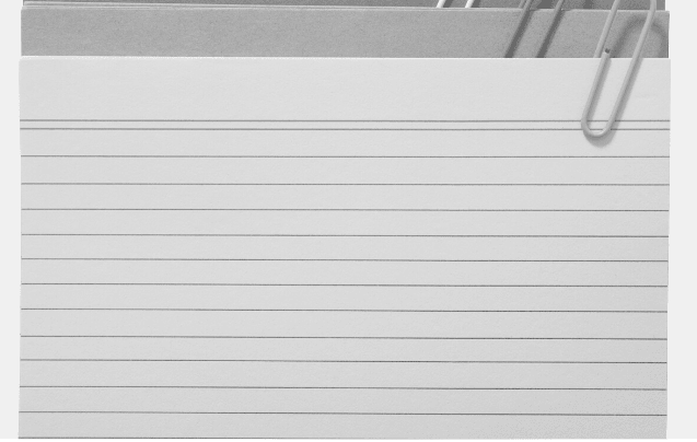 Featured Images - Photo of several Index cards with paperclips. Image from DepositPhotos