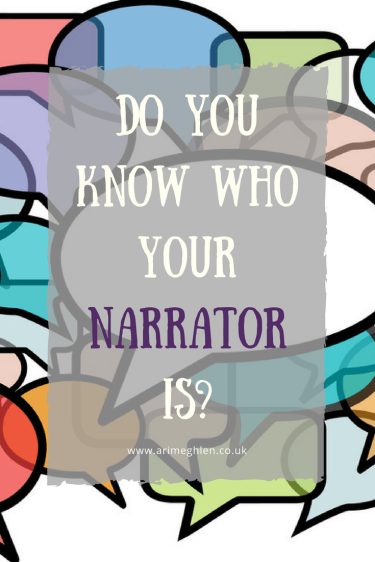 Banner, do you know who your narrator is, image of coloured speech bubbles