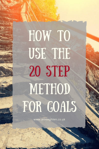 banner how to use the 20 step method for goals