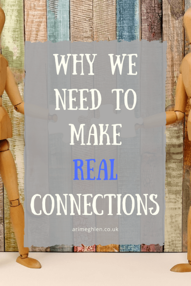 Why we need to make real connections with people.  How social media can sometimes make us less social
