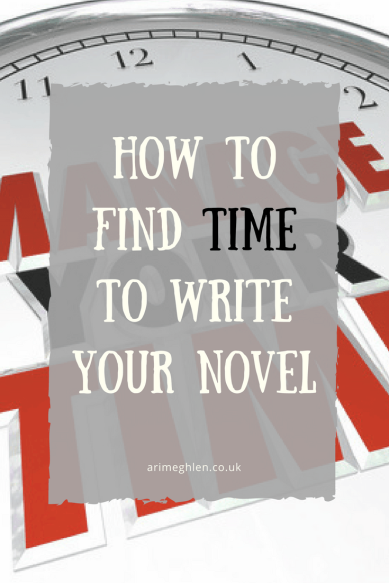 Banner How to find time to write your novel. Tips on time management