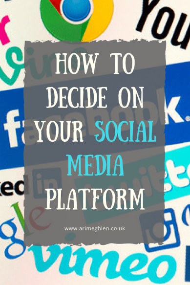 Banner how to decide on your social media platform, several social media logos in the background