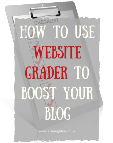 Title Image: how to use website grader to boost your blog. image of a checklist