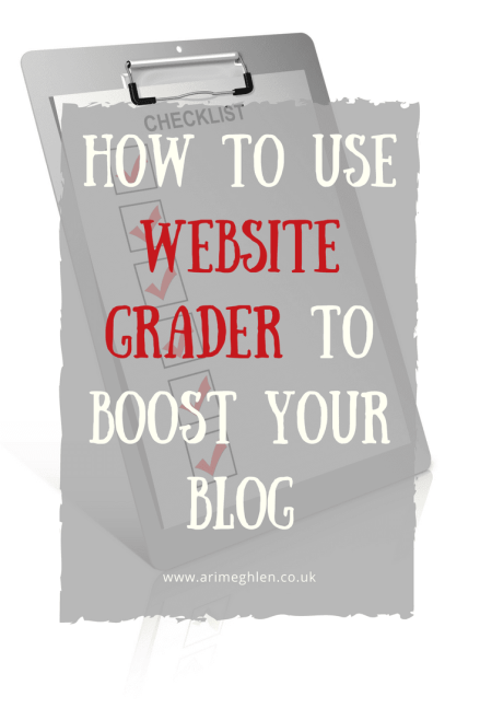 image of a checklist, how to use website grader to boost your blog