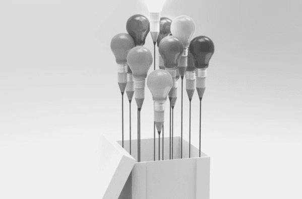 Featured Images - A box of lightbulbs that look like penciles and balloons. Be inspired
