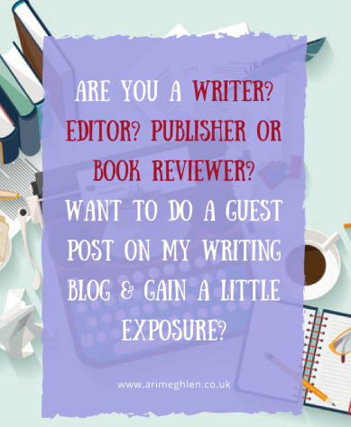 Are you a writer? editor? publisher? book reviewer? book cover designer? want to do a guest post on my writing blog?