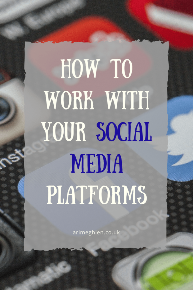 How to work with social media platforms. Tips for those who aren't a fan of social media. How to get