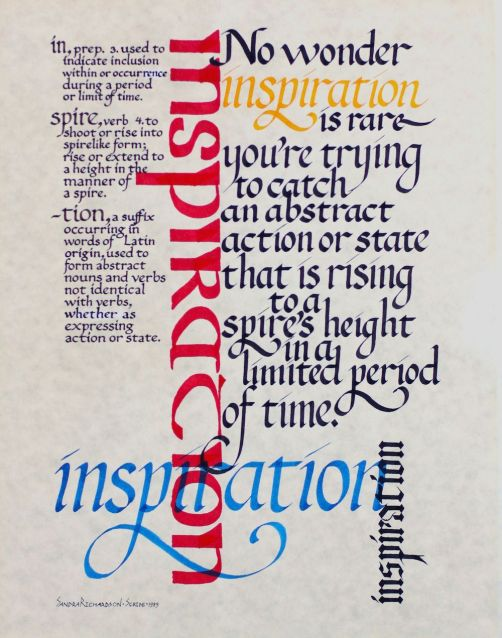 Inspiration calligraphy