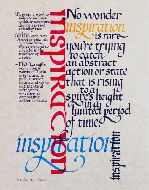 Inspiration calligraphy