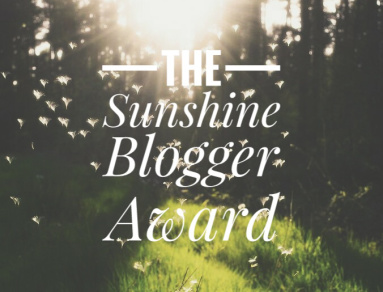 The Sunshine Blogger Award banner