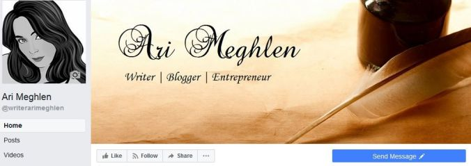 Ari Meghlen's Facebook Author page banner