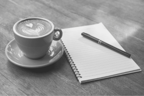 Featured Images - Coffee cup and notepad with a pen. Image from Pixabay