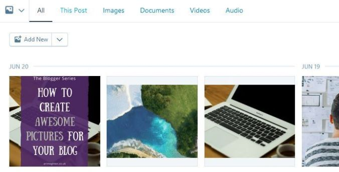 Blog menu image library
