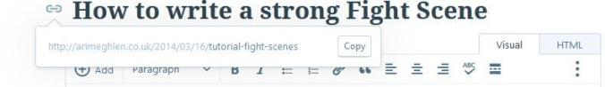 Image of URL slug that does not match the blog headline