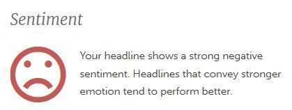 Image: Headline analyzer sentiment neutral for blog post headlines