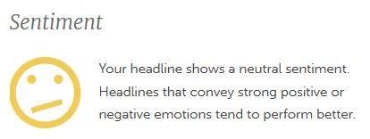 Image: Headline analyzer sentiment neutral for blog post headlines
