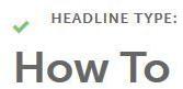 Image: Headline Analyzer Headline Type: How To