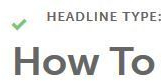 Image: Headline Analyzer Headline Type: How To