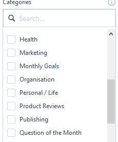 Image of blog categories