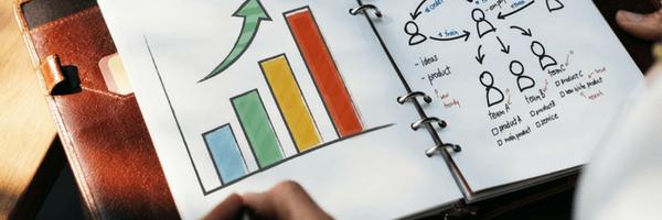 Image: Marketing, branding, business.  Graph, chart, data