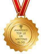 Image: Award Top 10 UK Writing blog