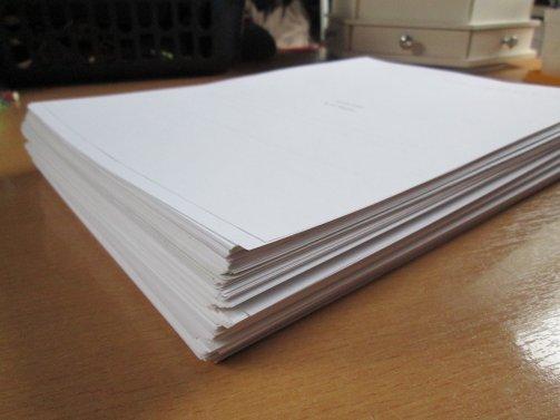 Image: Dark Hart Manuscript (stack of pages)
