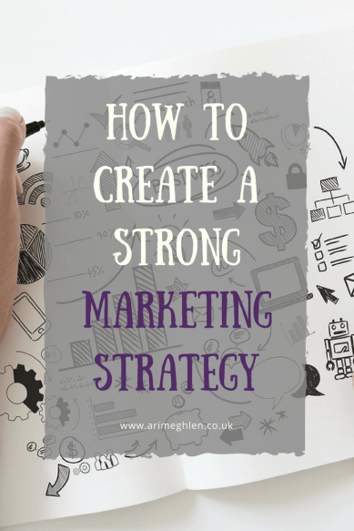 Title Image: How to create a strong Marketing Strategy. Image: Drawing of marketing imagery