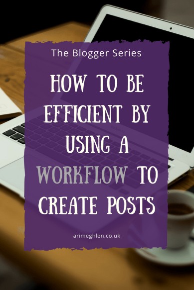 Title Image: Blogger Series: How to be efficient by using a workflow to create posts.