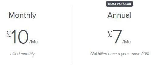 Image: Screenshot of Skillshare pricing